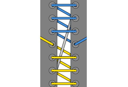 шнуровка лесенка