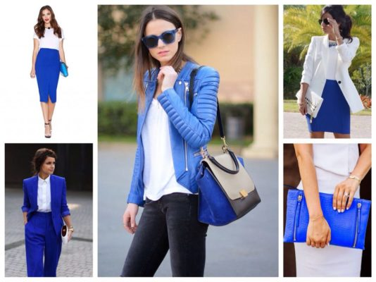 Сочетание цветов в одежде тёмно-синий