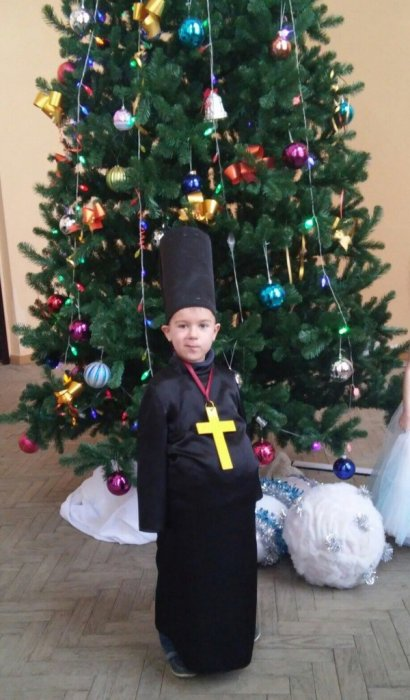 костюм батюшки с крестом