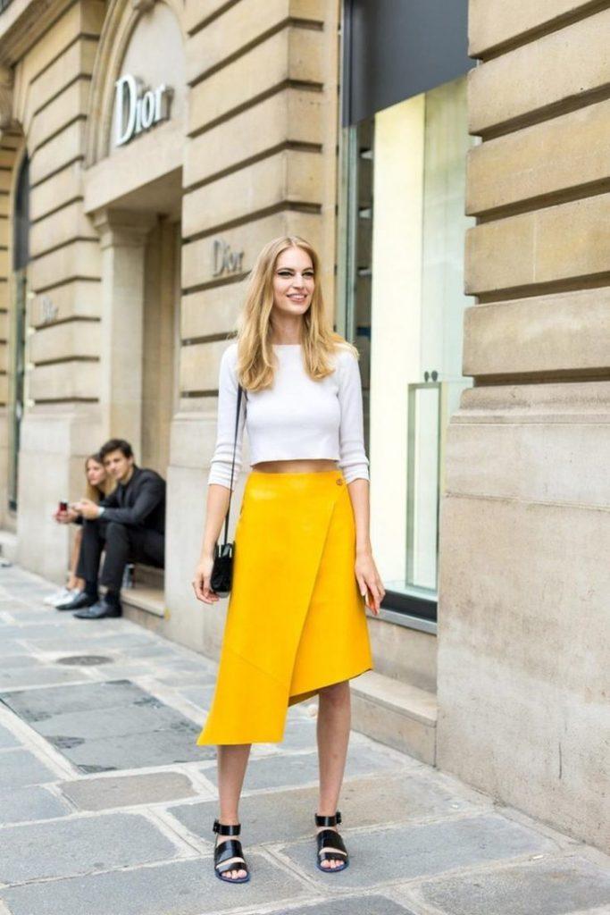 Street Style асимметричная юбка.