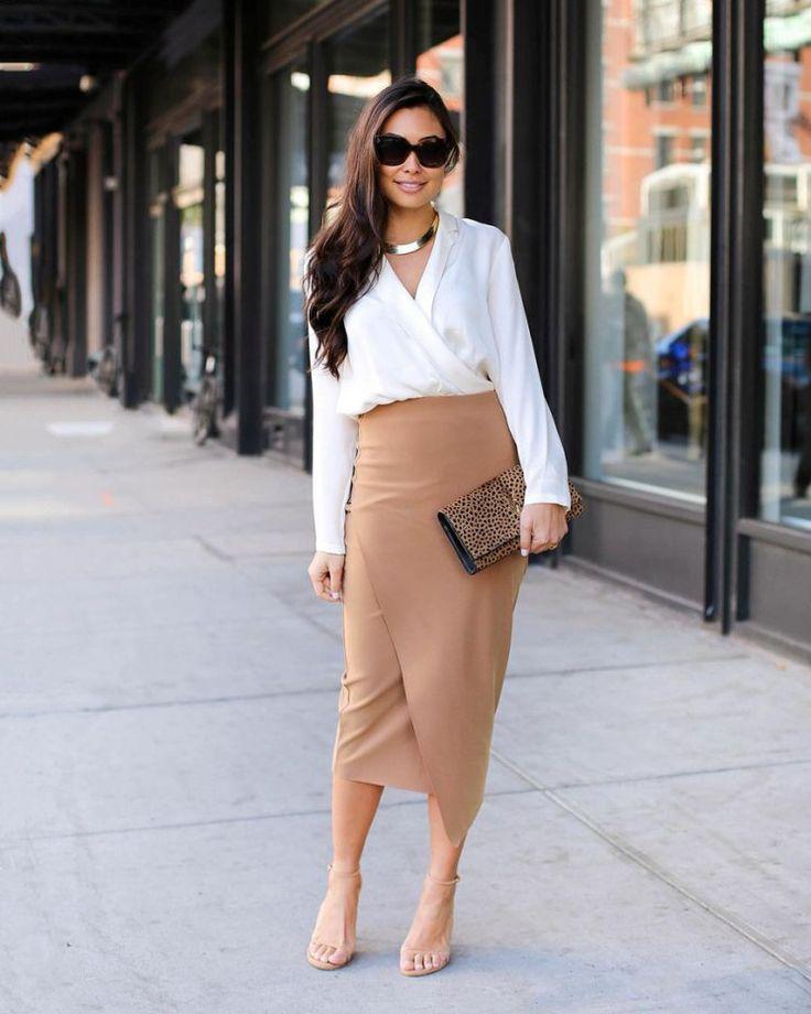 Удлинённая юбка-карандаш.