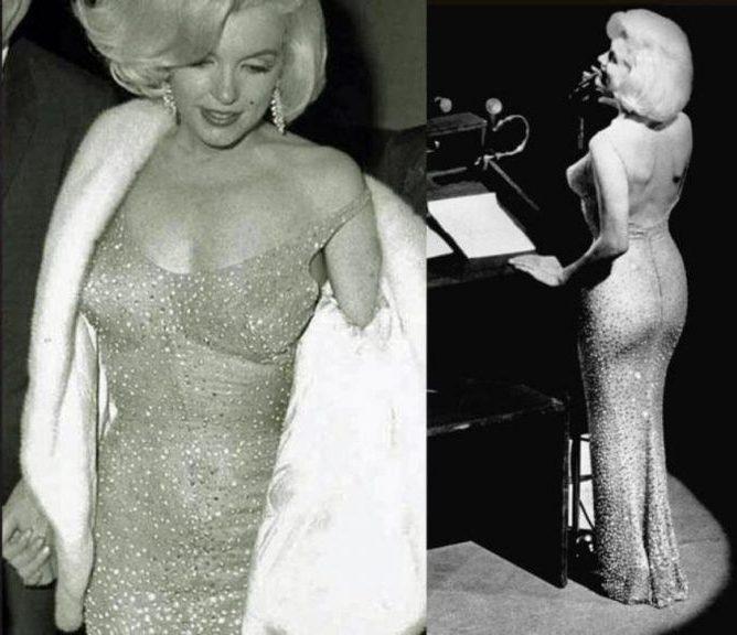 Мэрилин в облегающем платье.