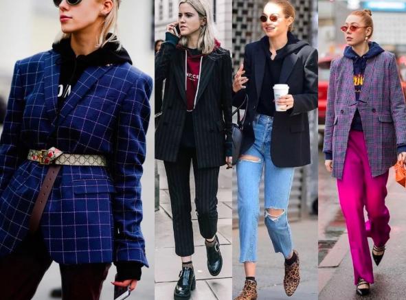 худи с пиджаком