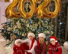 В чём российские звёзды встретили 2020 год