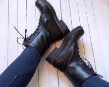 Брутальные ботинки.