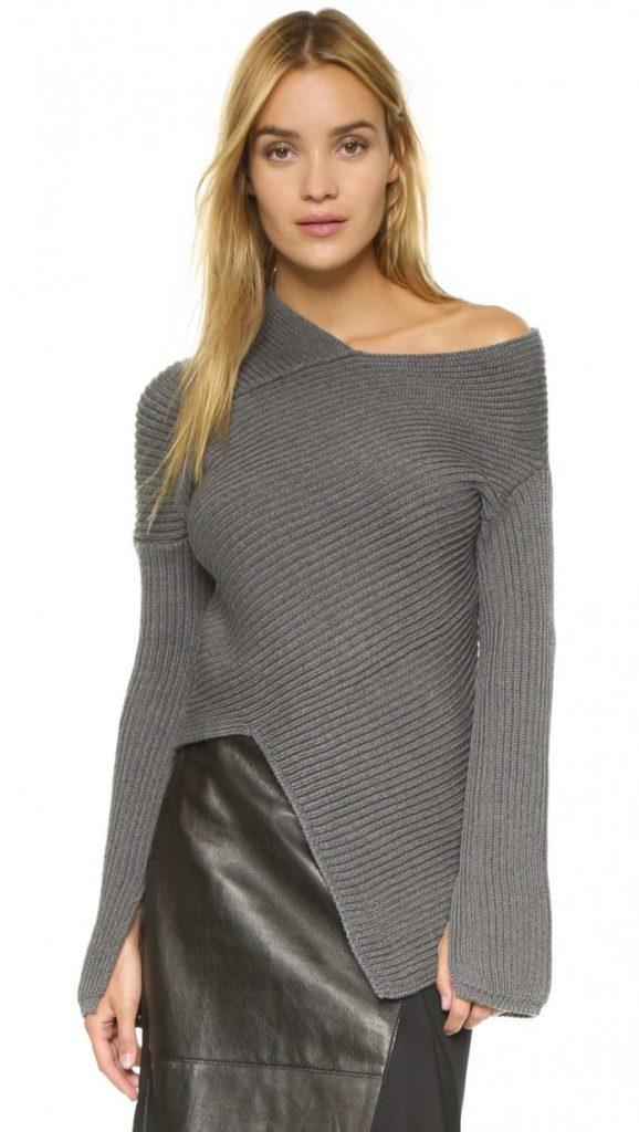 Ассиметричный свитер.