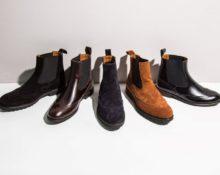 Зимние мужские ботинки челси.