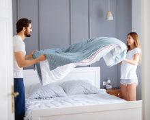 Что делать, если одеяло комкается в пододеяльнике
