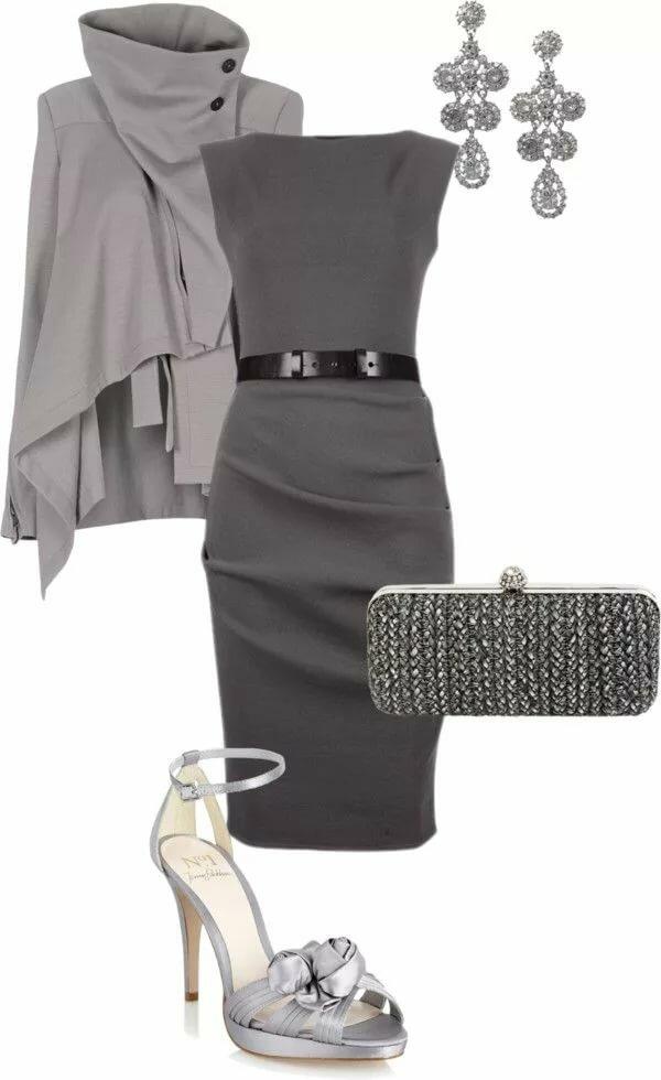 Серый тотал с платьем.