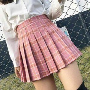 японская юбка в клетку