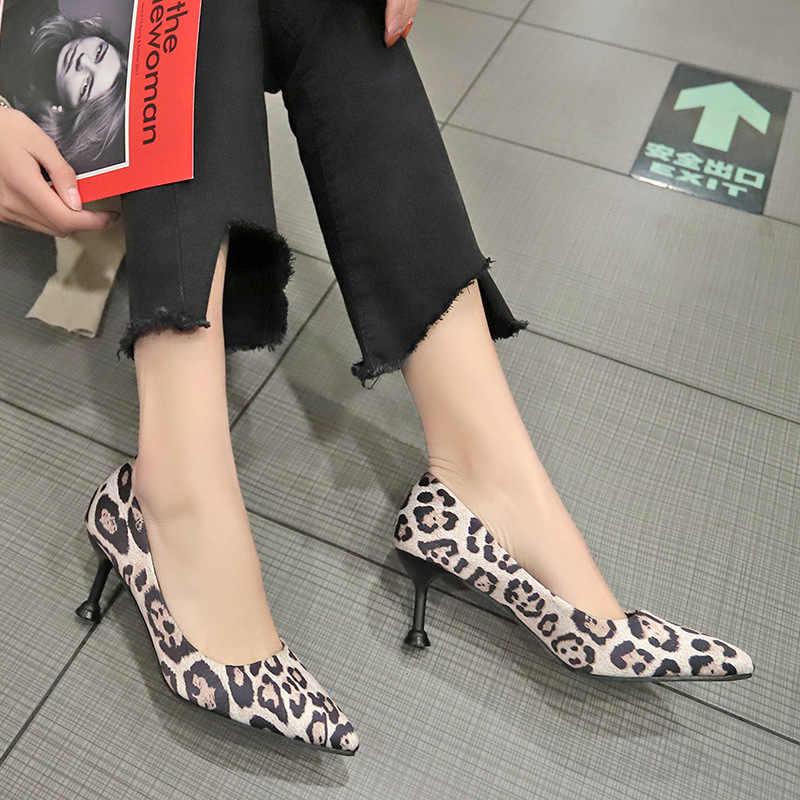 Леопардовый принт на туфлях.