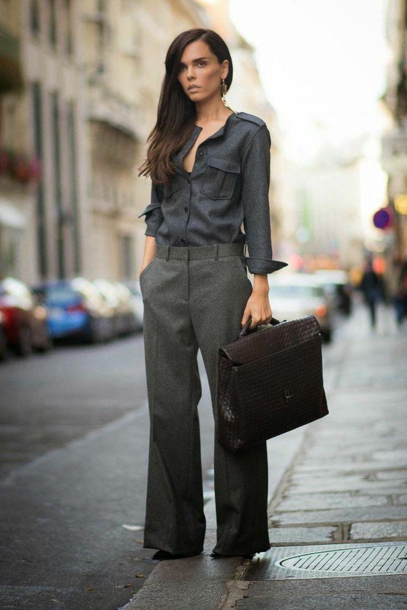 брюки помогают выглядеть сильной и независимой
