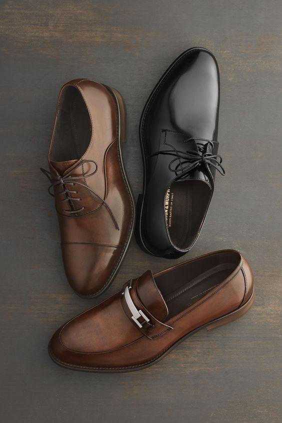 Кожаные мужские туфли.