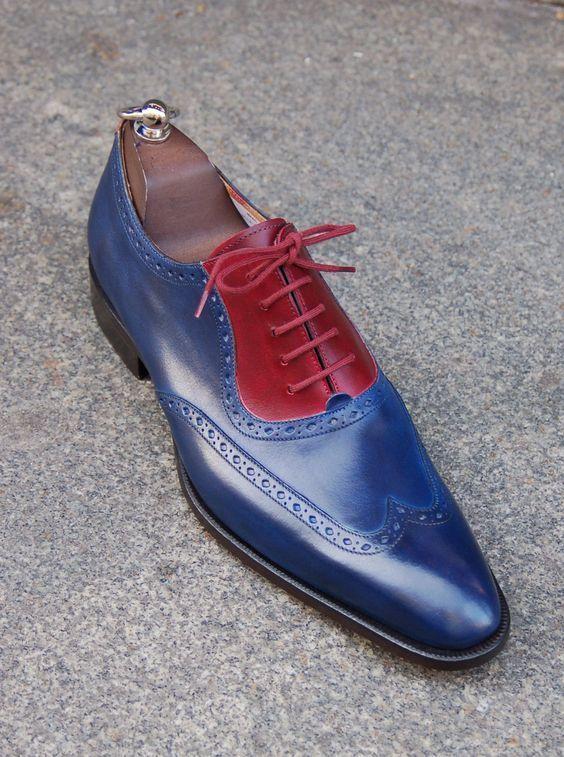 Двухцветные туфли.