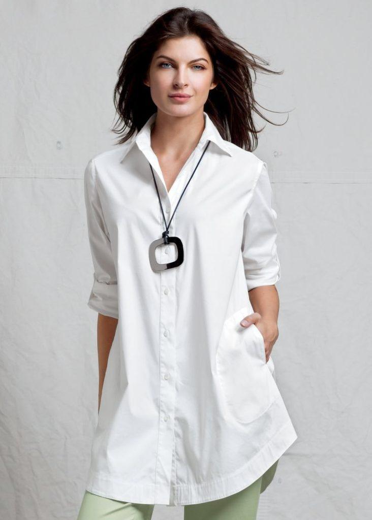 Туника-рубашка белая.