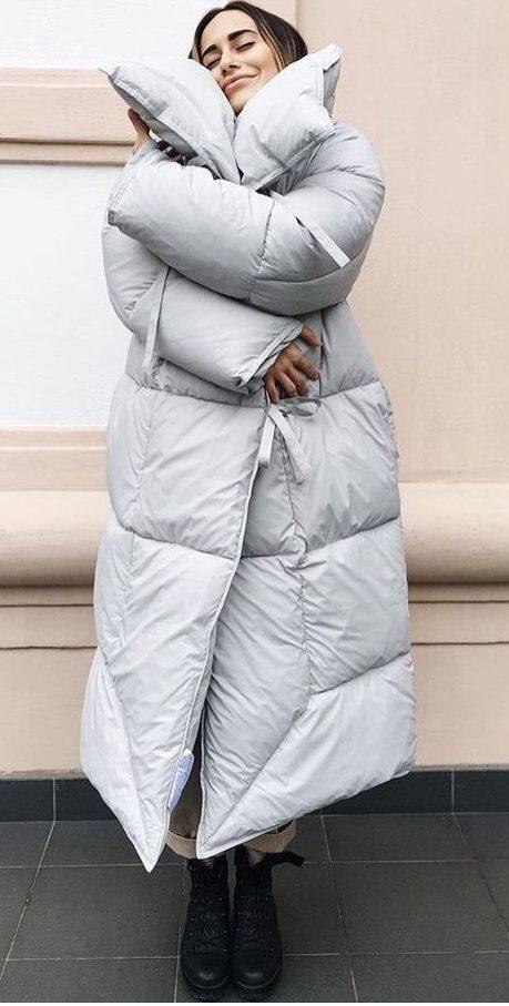 Пуховик-одеяло.