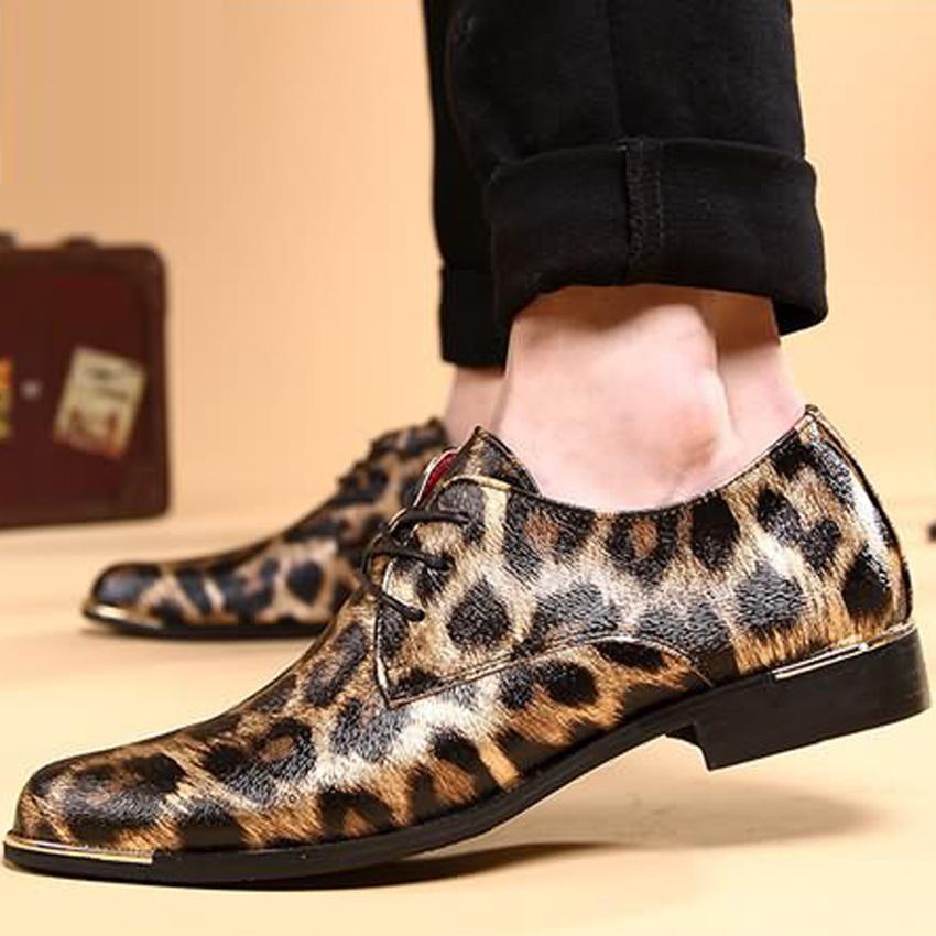 Туфли с леопардовым принтом.