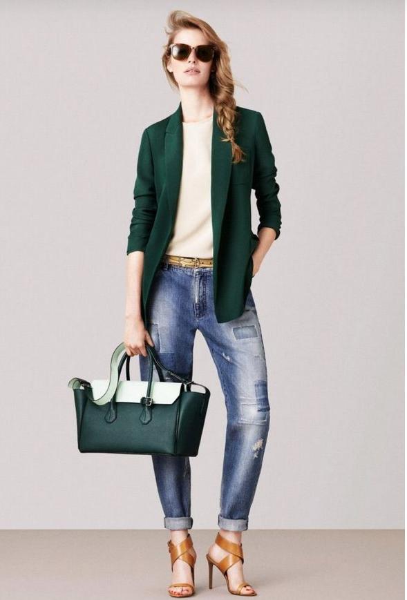 Зелёный пиджак.