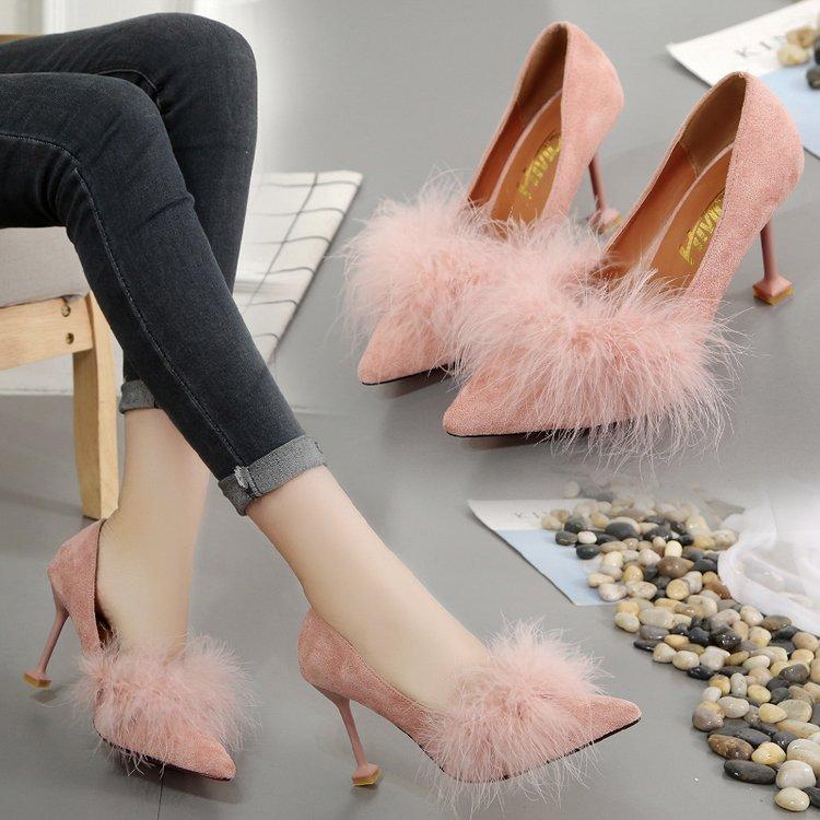 Туфли с мехом.