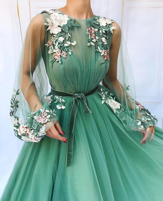 Платье бирюзовое Teuta Matoshi.