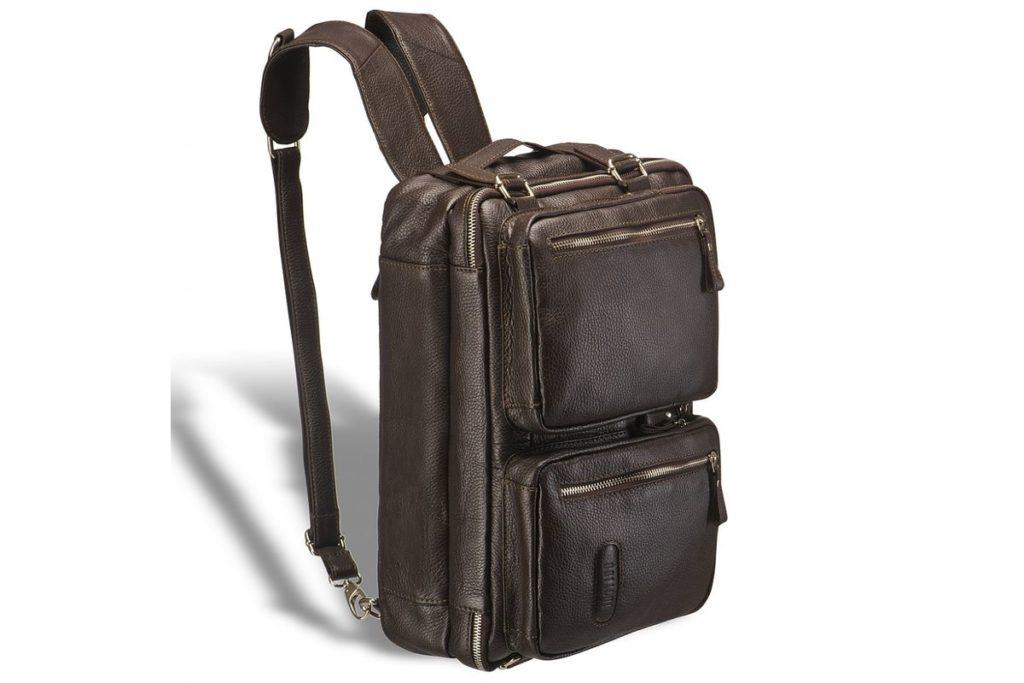 Кожаный рюкзак-трансформер.