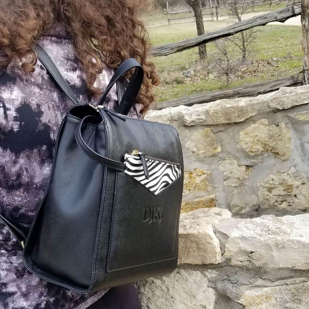 Рюкзак с принтом зебра.
