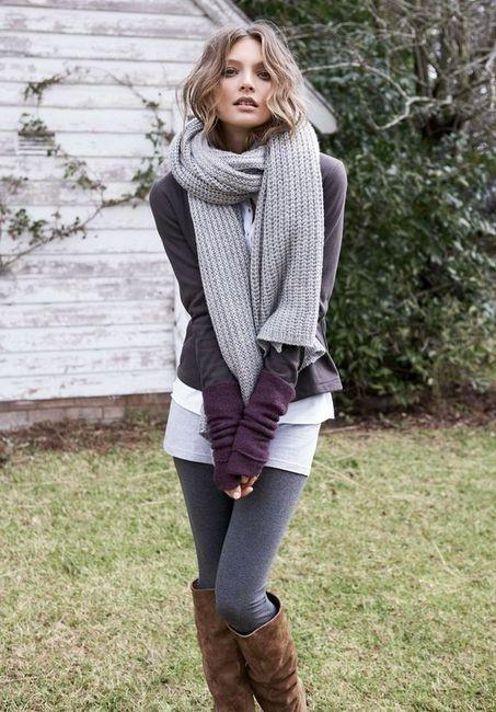 классический вязаный шарф