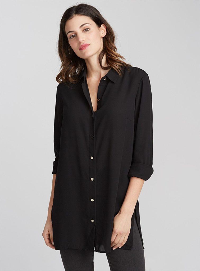 Туника-рубашка чёрная.
