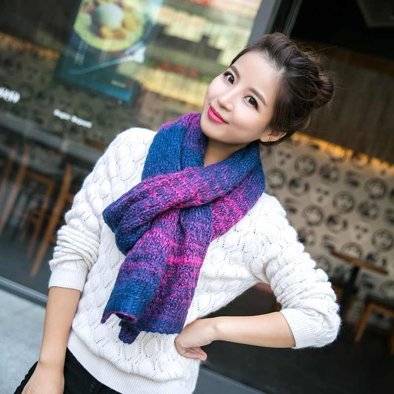 шарф с градиентом
