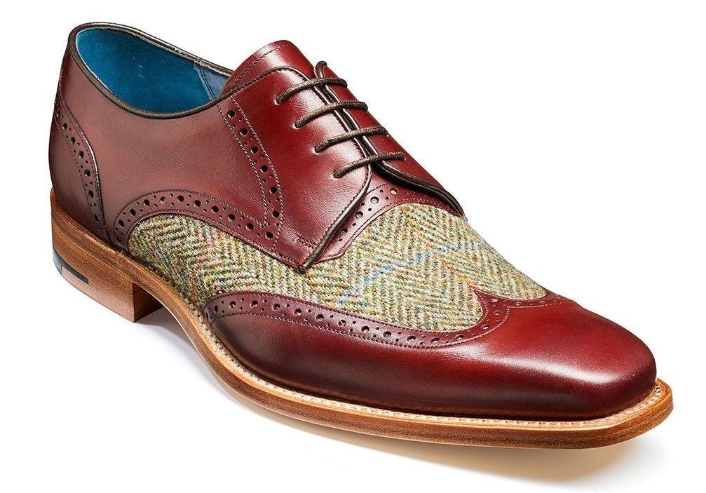 туфли с комбинацией материалов.