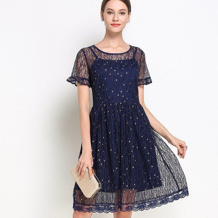 Комбинированное повседневное платье.