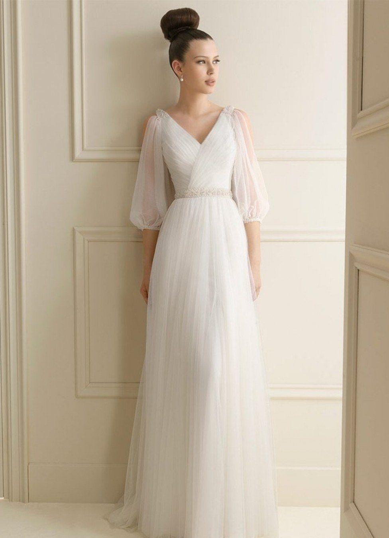 Платье со складками.
