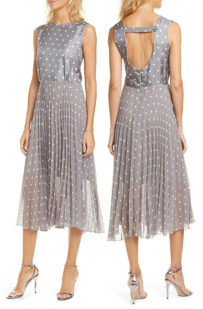 Плиссированное платье.
