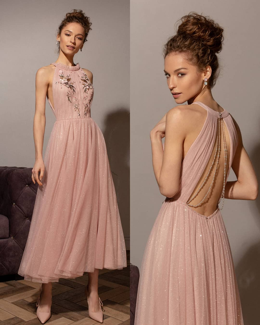 романтичное платье с пайетками