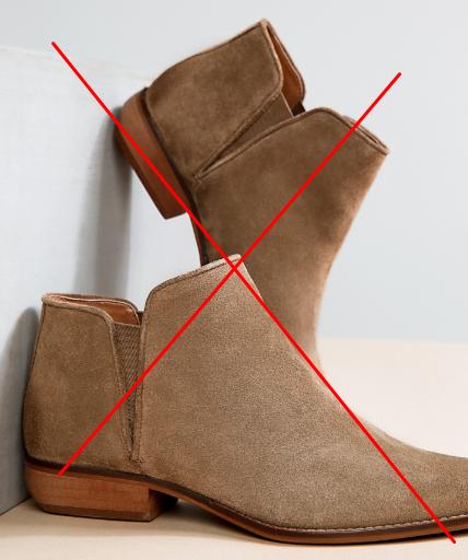 оказаться от обуви