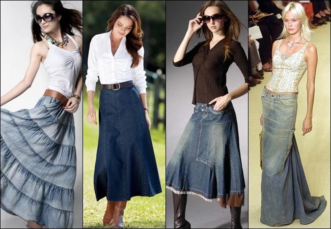 Джинсовые юбки.