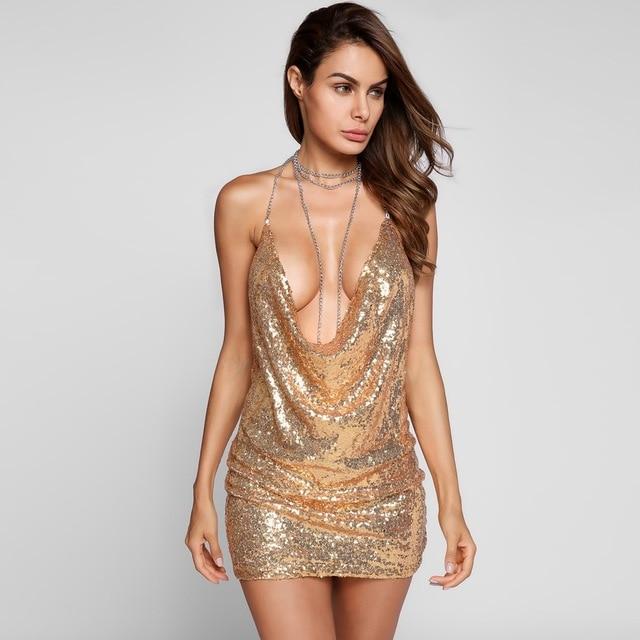 мини-платье с пайетками