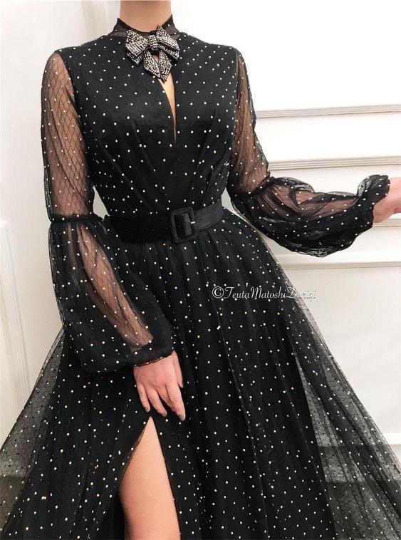 Чёрное платье Теута Матоши.