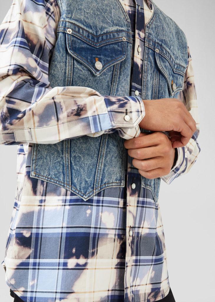 Комбинированная рубашка.