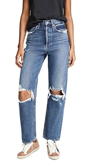 Рваные джинсы.