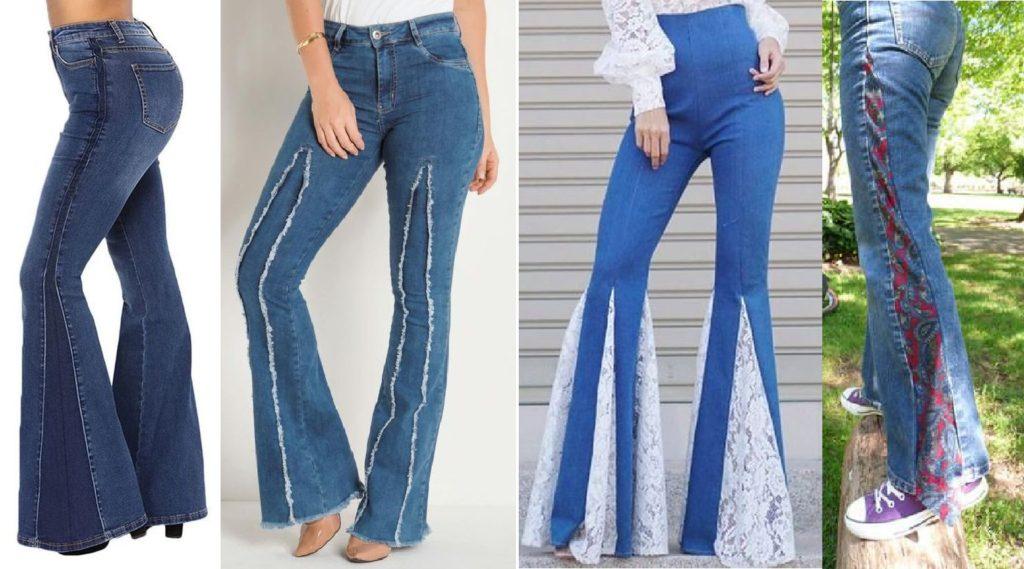Бохо-брюки со вставками