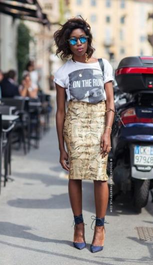 светлая юбка