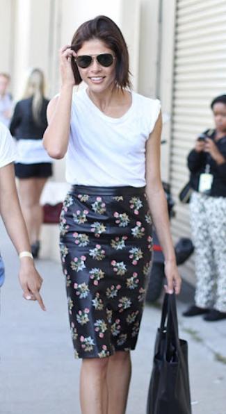 юбка с принтом