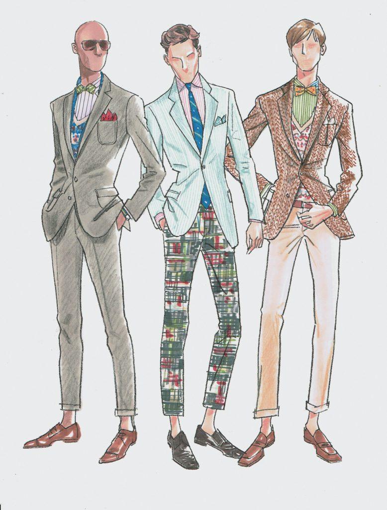 Polo Menswear sketch. L. O'Neal