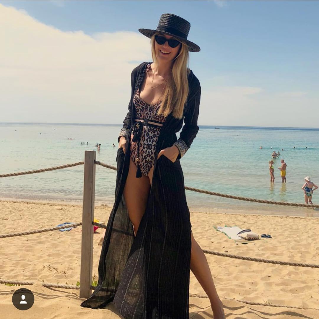 пляжное платье с запахом