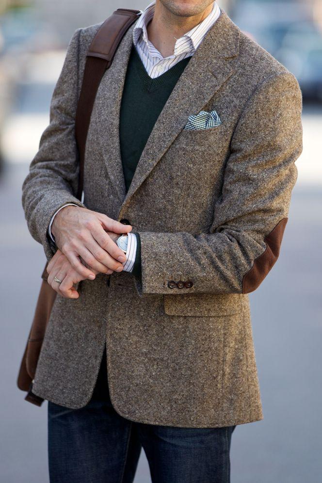 пиджак с заплатками