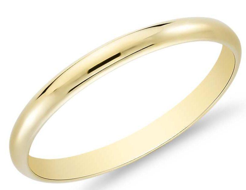 Классическое кольцо обручальное.