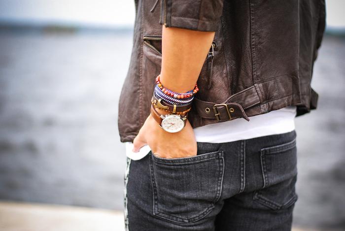 Мужские браслеты с часами.