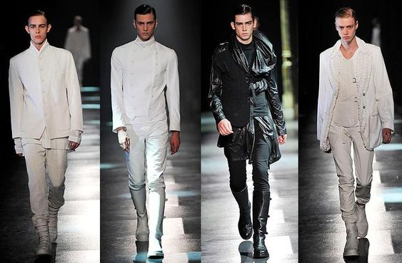 Авангардная одежда для мужчин.