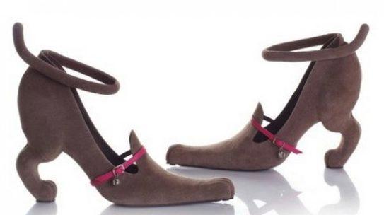 Необычные туфли.